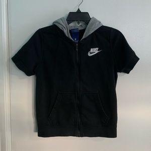 Nike Full Zip Short Sleeve Hoodie